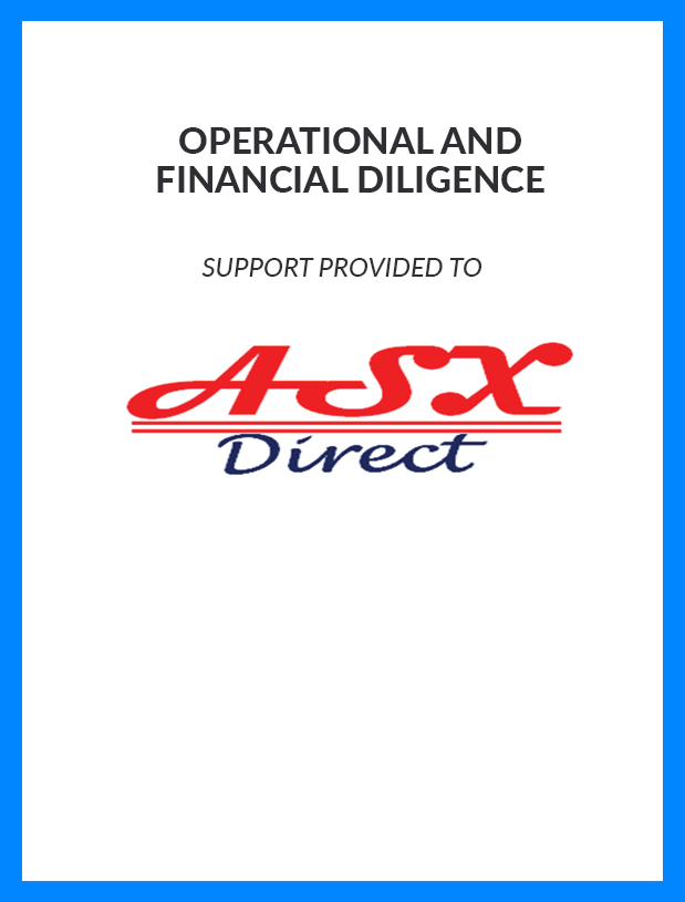 ASX - Operational and Financial Diligence