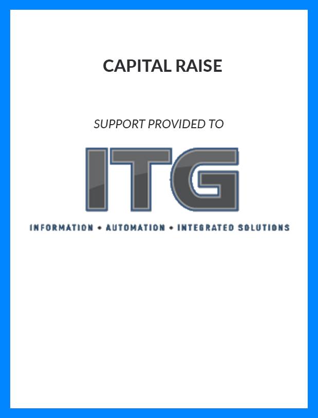ITG - Capital Raise